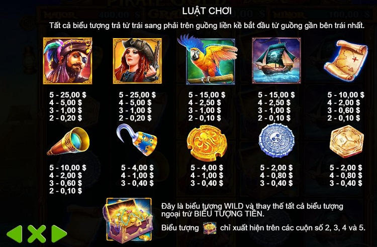 luat choi Pirate Gold Deluxe